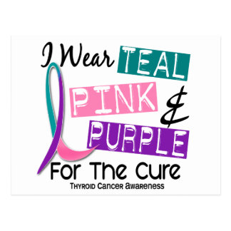 I Wear Thyroid Cancer Ribbon For The Cure 37 Post Card