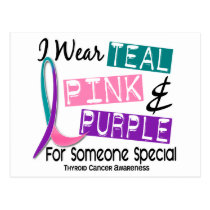 I Wear Thyroid Cancer Ribbon Someone Special 37 Postcard