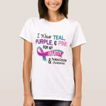 I Wear Thyroid Ribbon For My Aunt T-Shirt