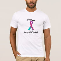 I Wear Thyroid Ribbon For My Best Friend 1 T-Shirt