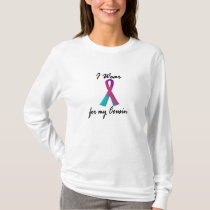 I Wear Thyroid Ribbon For My Cousin 1 T-Shirt