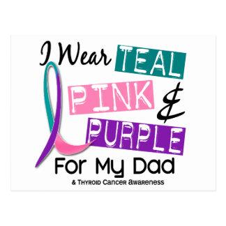 I Wear Thyroid Ribbon For My Dad 37 Postcard