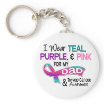 I Wear Thyroid Ribbon For My Dad Keychain