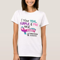 I Wear Thyroid Ribbon For My Dad T-Shirt