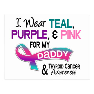 I Wear Thyroid Ribbon For My Daddy Postcard