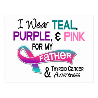 I Wear Thyroid Ribbon For My Father Postcard