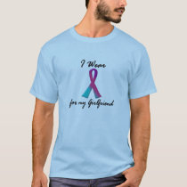 I Wear Thyroid Ribbon For My Girlfriend 1 T-Shirt