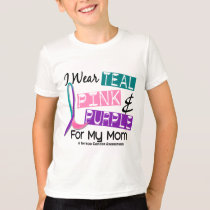 I Wear Thyroid Ribbon For My Mom 37 T-Shirt