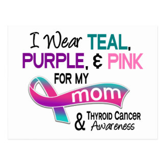 I Wear Thyroid Ribbon For My Mom Postcard