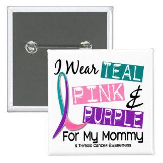 I Wear Thyroid Ribbon For My Mommy 37 Pins