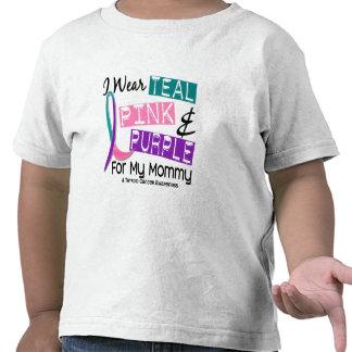 I Wear Thyroid Ribbon For My Mommy 37 Tee Shirt