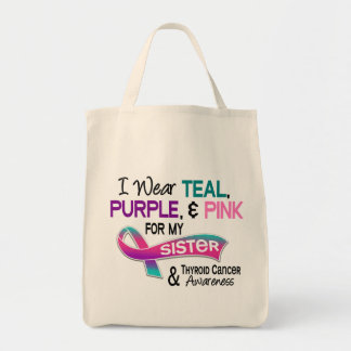 I Wear Thyroid Ribbon For My Sister Tote Bag