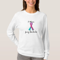 I Wear Thyroid Ribbon For My Son-In-Law 1 T-Shirt