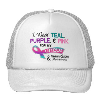I Wear Thyroid Ribbon For My Uncle Trucker Hat