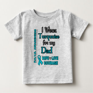 I Wear Turquoise for...Dad Baby T-Shirt