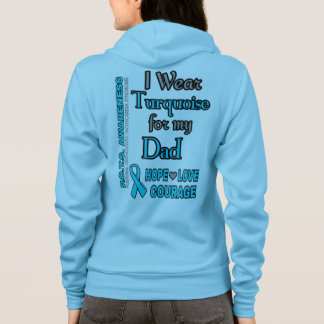 I Wear Turquoise for...Dad Hoodie