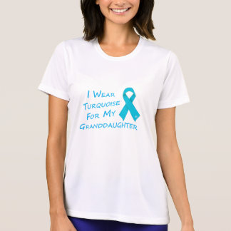I Wear Turquoise - Granddaughter T-Shirt