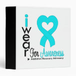 I Wear Turquoise Ribbon - Addiction Recovery Binders