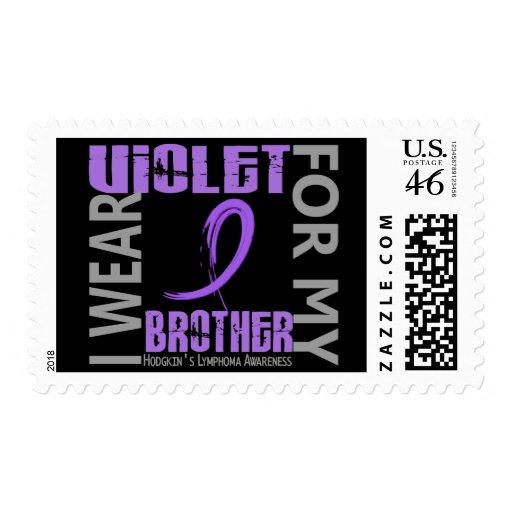 I Wear Violet Brother 46 Hodgkin's Lymphoma Stamps