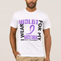 I Wear Violet Brother 46 Hodgkin's Lymphoma T-Shirt