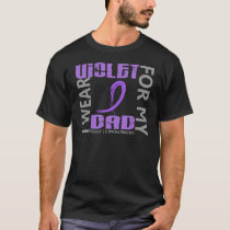 I Wear Violet Dad 46 Hodgkin's Lymphoma T-Shirt