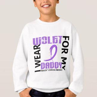 I Wear Violet Daddy 46 Hodgkin's Lymphoma Sweatshirt