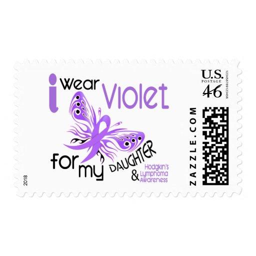 I Wear Violet For Daughter 45 Hodgkin's Lymphoma Postage Stamps