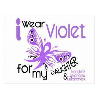 I Wear Violet For Daughter 45 Hodgkin's Lymphoma Postcard