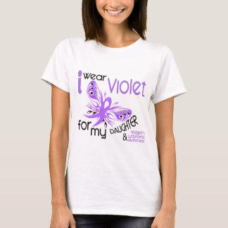 I Wear Violet For Daughter 45 Hodgkin's Lymphoma T-Shirt