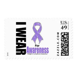 I Wear Violet For Hodgkins Disease Awareness Postage