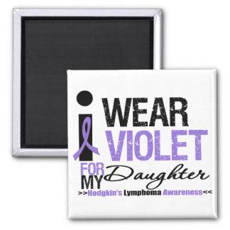 I Wear Violet For My Daughter 2 Inch Square Magnet