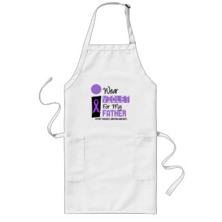 I Wear Violet For My Father 9 Hodgkins Lymphoma Long Apron