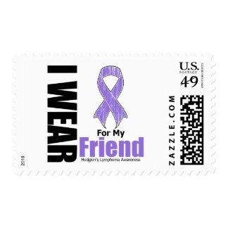 I Wear Violet For My Friend Hodgkins Disease Stamps