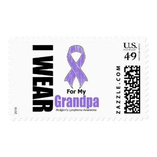 I Wear Violet For My Grandpa Hodgkins Disease Stamps