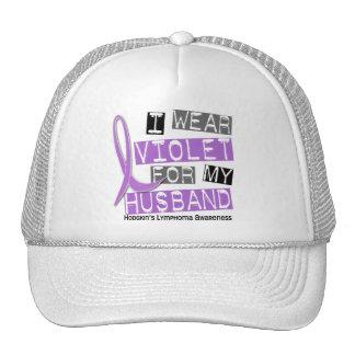 I Wear Violet For My Husband 37 Hodgkin's Lymphoma Mesh Hat
