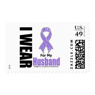 I Wear Violet For My Husband Hodgkins Disease Postage Stamps