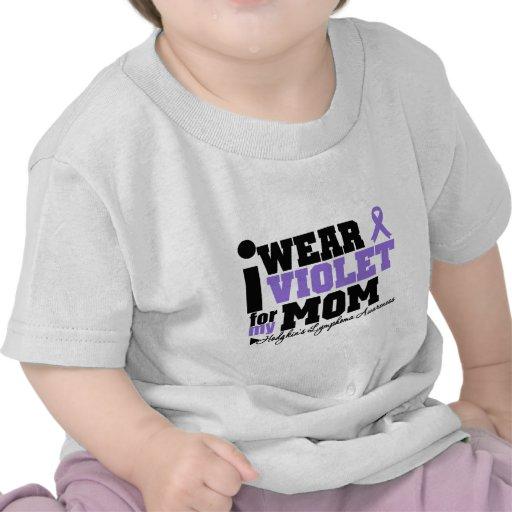 I Wear Violet For My Mom Hodgkins Lymphoma Tshirt