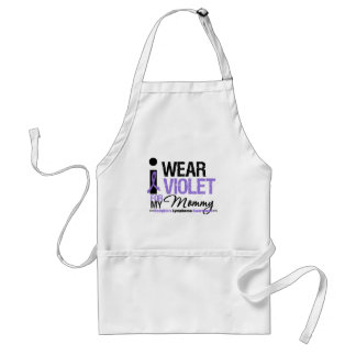 I Wear Violet For My Mommy Aprons