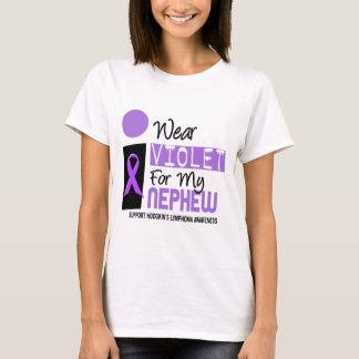 I Wear Violet For My Nephew 9 Hodgkins Lymphoma T-Shirt