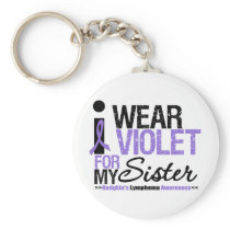 I Wear Violet For My Sister Keychain