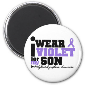 I Wear Violet For My Son Hodgkins Lymphoma 2 Inch Round Magnet