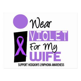 I Wear Violet For My Wife 9 Hodgkins Lymphoma Postcard