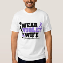 I Wear Violet For My Wife Hodgkins Lymphoma T-shirt