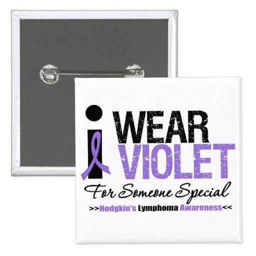 I Wear Violet For Someone Special Pin