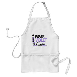 I Wear Violet For The Cure Apron