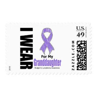 I Wear Violet Granddaughter Hodgkins Disease Stamp