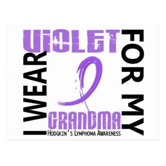 I Wear Violet Grandma 46 Hodgkin's Lymphoma Postcard
