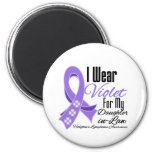 I Wear Violet Hodgkin's Lymphoma Daughter-in-Law Magnets