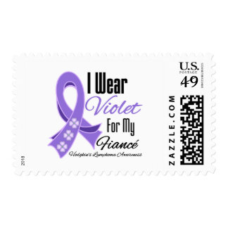 I Wear Violet Hodgkin's Lymphoma Fiancé Stamp