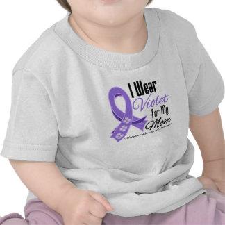 I Wear Violet Hodgkin's Lymphoma Mom Tee Shirt